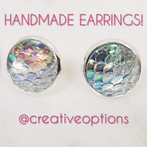 Jewelry - ✴3 for $15 Iridescent Mermaid Scale Earrings